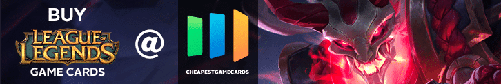 Buy League of Legends PC Game Cards from cheapestgamecards.com promo