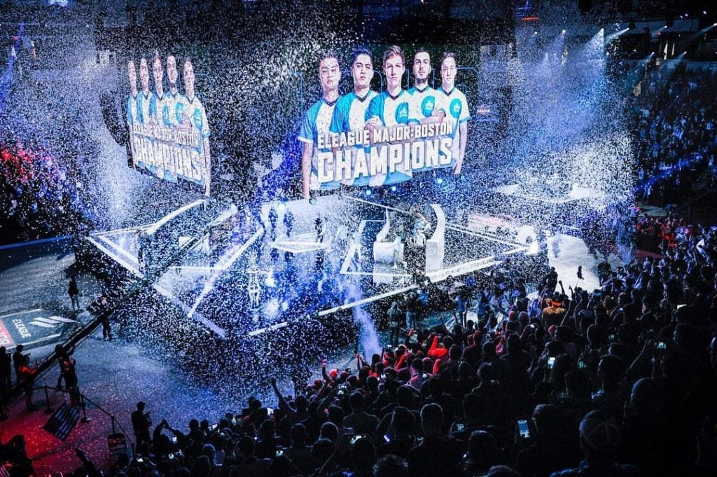 ELEAGUE Major Boston 2018 confetti drop