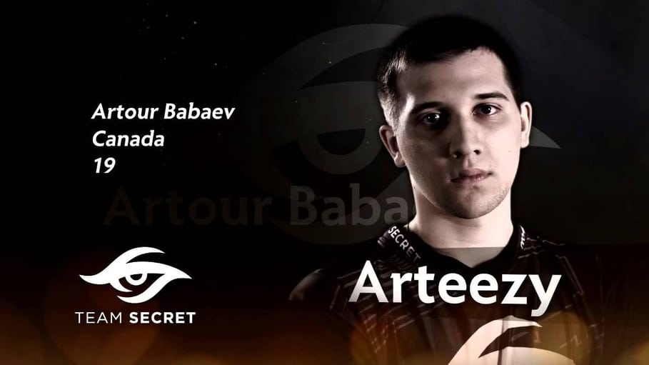 Arteezy joins team secret after his fight with ppd.