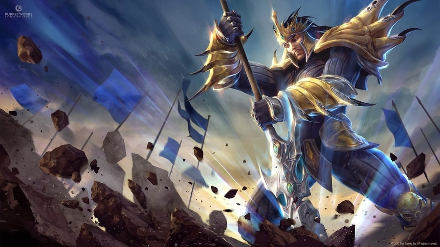 We slowly enage with Jarvan IV's Guide, showing us the perks of The Legendary Exemplar of Damacia