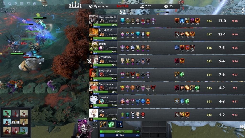In the Two Softies Dazzle & IO Added To Dota Auto-Chess article you will find out that Drodo Studio listens to its fanbase, by adding the informational panel. It allows you see each player's current chess pieces, hero levels, and active synergies.