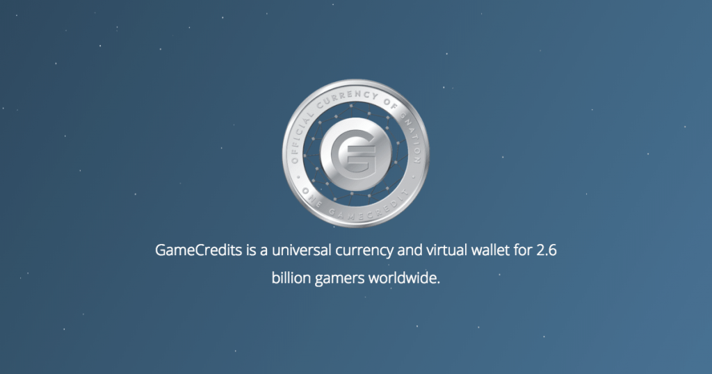 GAMECREDITS is a cryptocurrency for gamers