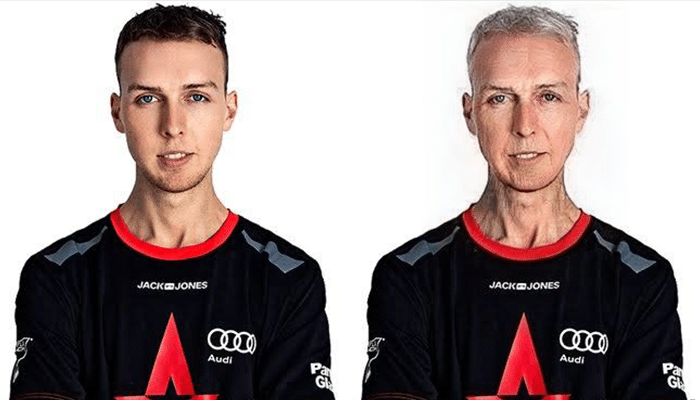 Lukas gla1ve Rossander FaceApp Transformation