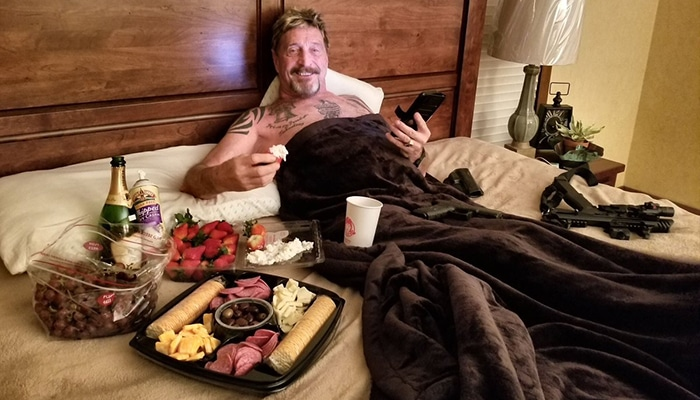 John McAfee Facts he loves food