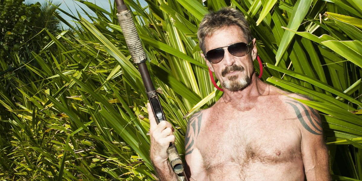 John McAfee facts McAfee in Belize with Gun