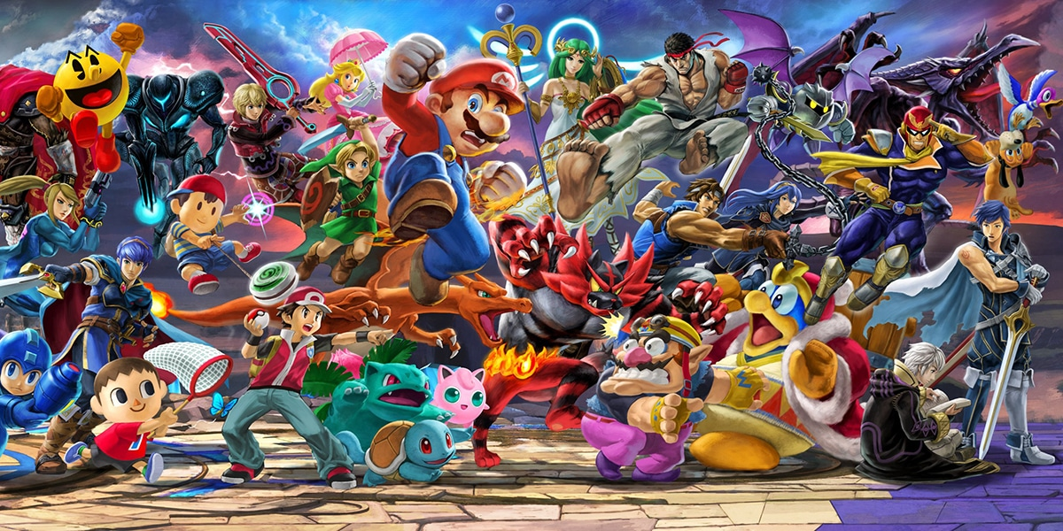 Super Smash Bros history characters