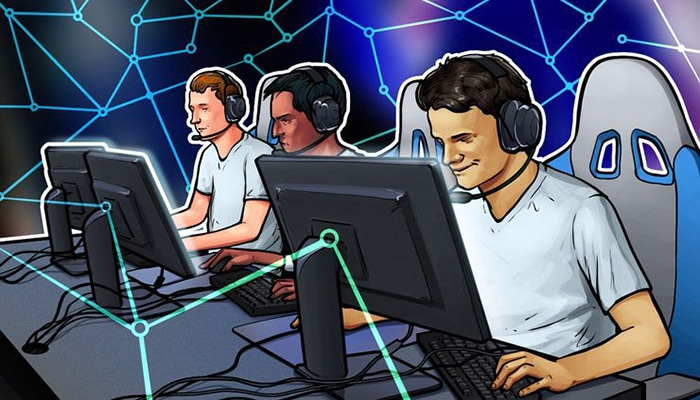 gaming cryptocurrencies illustration