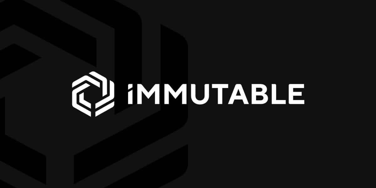 immutable blockchain gaming company logo