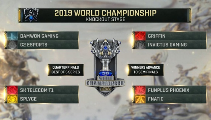 worlds 2019 quarter-finals draws